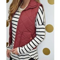 Best Of The Vest Wine Puffer Vest