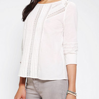 Urban Outfitters - Pins And Needles Pintuck & Lace Blouse