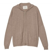 Wool Cashmere Zip Up