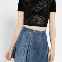 Urban Outfitters - Silence + Noise Batty Sheer Cropped Tee