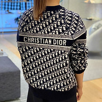 Christian Dior new product D classic letter presbyopia knitted sweater loose men's and women's sweater