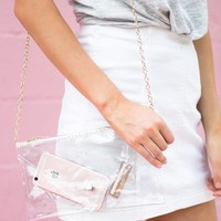Clear Envelope Clutch Bag