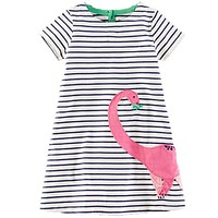 Baby Girl Dress with Animals Applique Princess Dress Kids Clothes Children Christmas Dresses for Girls