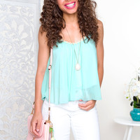 Daisy Chain Top - Mint
