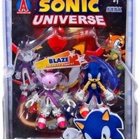 Sonic the Hedgehog 3.5 Inch Action Figure with Comic Book 2-Pack Sonic & Blaze