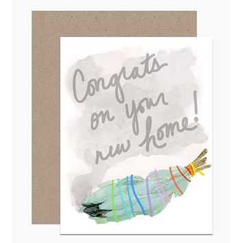 Congrats New Home Sage Card