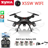 Original SYMA X5SW Fpv Quadcopter Drone With Camera HD 0.3MP RC Dron Drones 2.4G 6-Axis X5C Upgrade X5sw RC Helicopter 5 battery