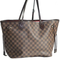 Authentic Louis Vuitton Neverfull MM Damier Ebene Shoulder Bag