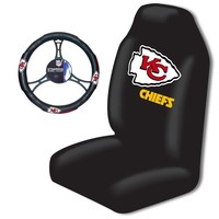 Kansas City Chiefs NFL Car Seat Cover and Steering Wheel Cover Set