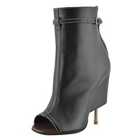 Givenchy Women's Black High Heel Open Toe Ankle Boots Shoes US 5 IT 35
