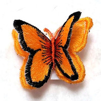 3D Embroidery Organza Butterfly Brooch