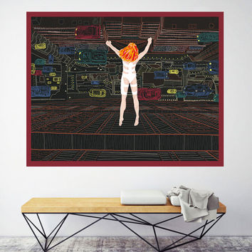 The Fifth Element - Leeloo, Digital art, illustration print.