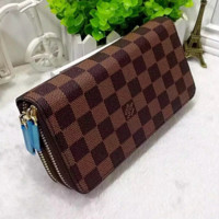Louis Vuitton Women Fashion Leather Zipper Purse Wallet