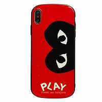 PLAY tide brand all-inclusive iPhone8plus mobile phone case cover red