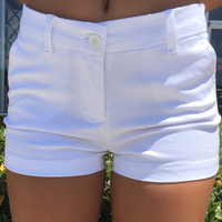Simply Southern Preppy Shorts - White