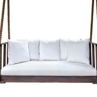 Country Side Bedswing, Coffee/White, Outdoor Porch Swings