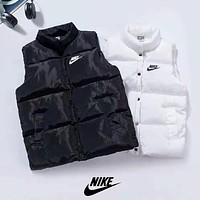 NIKE New fashion bust and back letter hook print vest top down coat