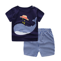 Summer baby boy / girl clothes short Top + pants 2pcs/set