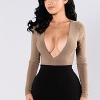 Turn Me On Bodysuit - Mocha