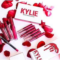 """Kylie"" Valentine's Day Edition Lip Color Does Not Touch The Goblet Matte Lipstick Lip Glaze Makeup Mini Lip Gloss Lipstick 6 Color Set I13806-1"