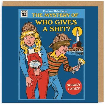 The Mystery of Who Gives a Shit? Retro Card