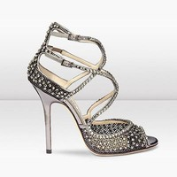 Jimmy Choo Women Fashion Diamonds Heels Shoes