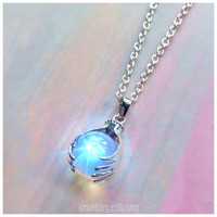Opalite crystal ball clairvoyant necklace