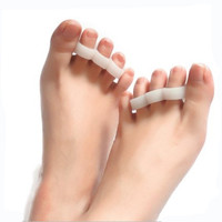 2PCS Silicone Foot Care Tool Gel Foot Toe Separator Bunion Protector Straightener Corrector Orthotics Pedicure Bunion Protector