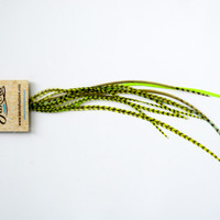 Ligth Green Hair Accessories Feather Extensions Short Hair Feathers Grizzly Feather  NATIVE INDI Hair Extension