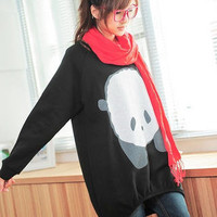 YESSTYLE: YoungBaby- Panda-Print Long Pullover (Black - One Size) - Free International Shipping on orders over $150