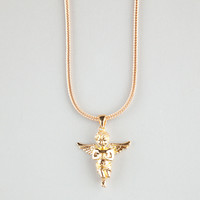 THE GOLD GODS Micro Angel Piece Necklace | Necklaces