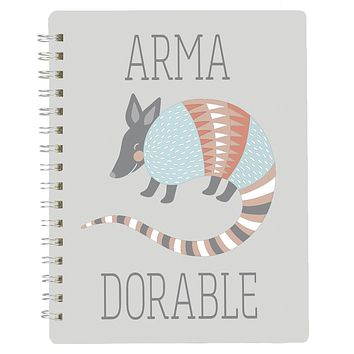 """Armadillo Armadorable Spiral Notebook 