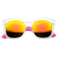 Cool Detachable Arm Funky Retro Mirror Lens Sunglasses 9688