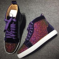 DCCK2 Cl Christian Louboutin Rhinestone Style #1942 Sneakers Fashion Shoes