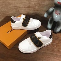 LV Louis Vuitton Child Girls Boys shoes Children boots Baby Sandle Toddler Kids Child Fashion Casual Sneakers Sport Shoes