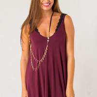 Easy Living Dress in Maroon