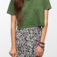 Truly Madly Deeply Super Cropped Mineral Wash Tee