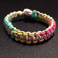 Pipe Bracelet - Hemp with Rastafarian Colors