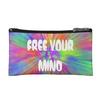 FREE YOUR MIND Hippie Stoner Bag Psychedelic