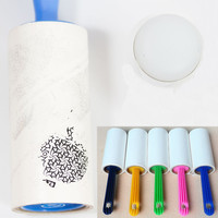 1 roll Nail Art Lint Roller 60 unids paper sticky nail stamping with support Remover (Random Color)