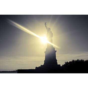 Statue of Liberty New York City Monument Canvas Photography Metal Print Wall Art Picture Home Decor Poster Landmark