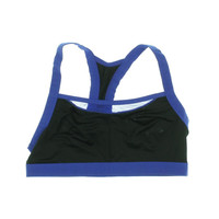 Josie Natori Womens Mesh Trim Colorblock Sports Bra