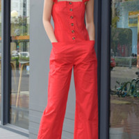 The new women's dresses are hot sellers with a slight la jumpsuit with a flounce button