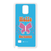 Sassy - Hello Gorgeous 10433 White Silicon Rubber Case for Galaxy Note 4 by Sassy Slang