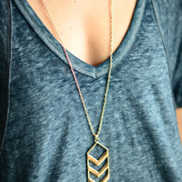 Chevron Necklace - Gold