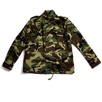 Saint Laurent Medium Green Cotton 2017 Men's Camouflage Military Jacket With Love Patch | New