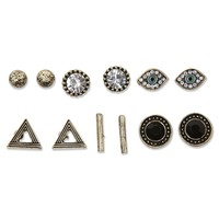 With Love From CA Evil Eye Earring Pack - Womens Jewelry - Gold - One