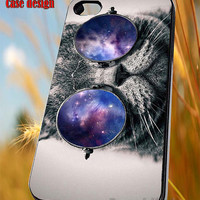 Grumpy cat galaxy glass for iPhone 4/4S/5/5S/5C Case, Samsung Galaxy S3/S4/S5 Case, iPod Touch 4/5 Case