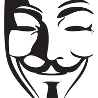 Guy Fawkes Mask Decal Sticker Car window wall 99% V for Vendetta anonymous