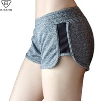B.BANG Women Running Shorts for Fitness Workout Gym Yoga Sport Shorts Sports Short Pants for Woman Elastic Bottoms S/M/L